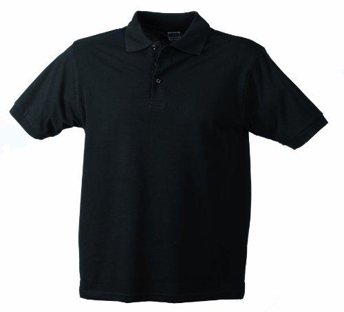 James & Nicholson Jungen Classic Polo Junior Poloshirt, Schwarz (schwarz black), X-Large (Herstellergröße: XL (146/152))
