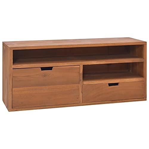 Tidyard Mueble de TV con 1 cajón Grande y 1 pequeño Mueble...