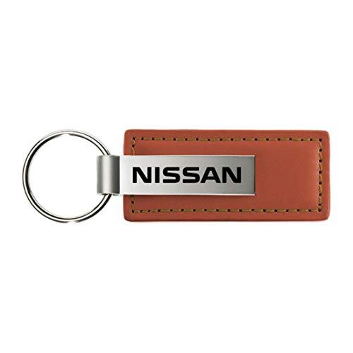 Llavero de piel marrón de Nissan