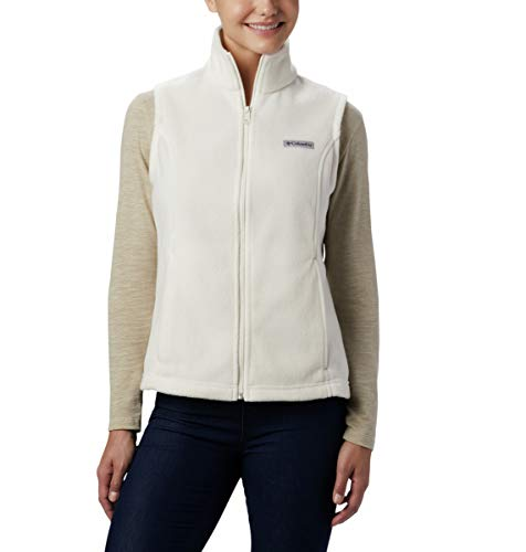 Columbia Women's Benton Springs Soft Fleece Vest, Chalk, Petite X-Small