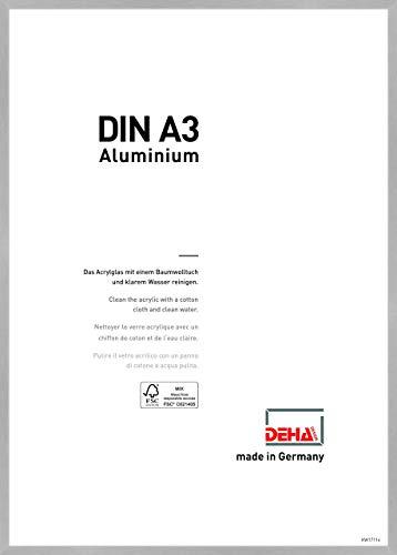 DEHA Aluminium Bilderrahmen Tribeca, 29,7x42 cm (A3), Struktur Silber Matt