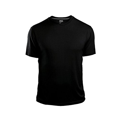 GAP Men's Crew Neck Cotton T Shirt Everyday Quotidien Solid Color (Black, X-Large)
