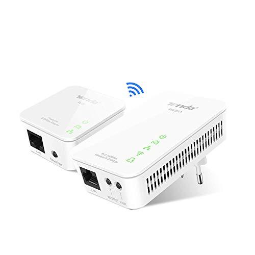 Tenda PW201A+P200 Adaptadores de Comunicación por Línea Eléctrica (AV200 WiFi, PLC, Powerline...
