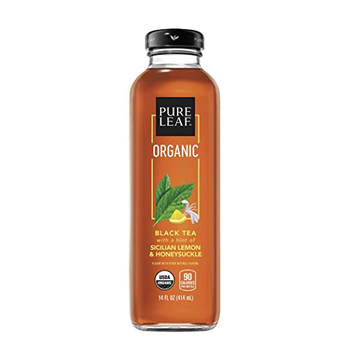 Pure Leaf, Organic Iced Tea, Sicilian Lemon & Honeysuckle, 14oz Bottles (Pack of 8) (Packaging May Vary)