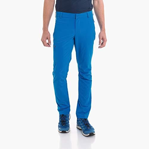 Schöffel Herren Pants Folkstone komfortable und leichte Wanderhose mit Stretch-Material, robuste Outdoor Hose mit sportlichem Schnitt, Directoire Blue, 52