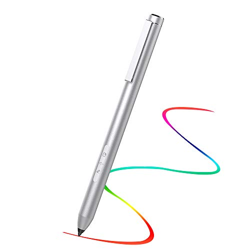 TiMOVO Stift Stylus, 4096 Level Druckempfindlichkeit Stylus Kompatibel mit Microsoft Surface Pro 7/6/5/4/3/X, Surface Laptop 3/2, Surface Go, Surface Book 2/1, Studio 2, 300 Tage Standby, Silber