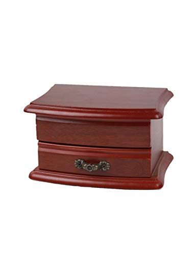WSQJPEH888 Vintage Jewelry Box Holz Kreative 2-Schicht-Schublade Schmuck Aufbewahrungsbox, Damen Halskette Ohrringe Ring Aufbewahrungsbox. (Color : 2pairs)