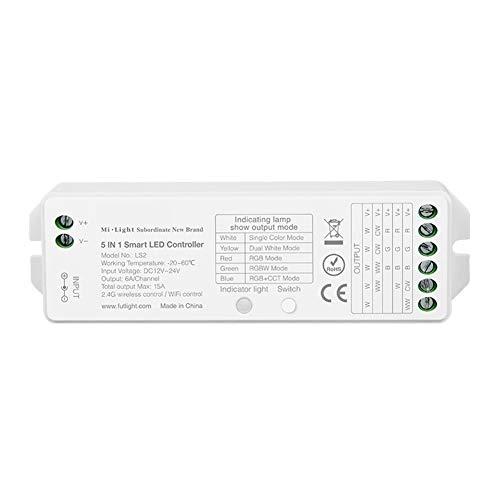 SHENMU 5 en 1 Controlador inalámbrico LED para un Solo Color/CCT/RGB/RGBW/RGB + Luz de Tira CCT (Caja de Control WiFi no incluida)