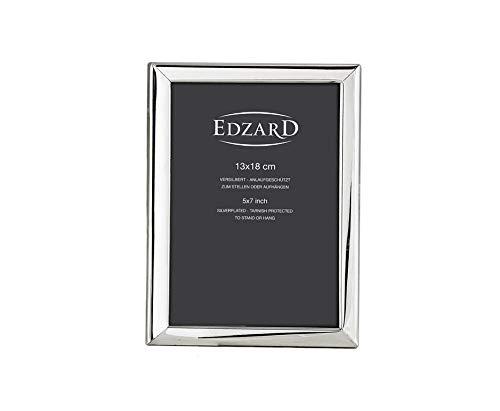 EDZARD Fotorahmen Aosta, für Foto 13 x 18 cm, edel versilbert, anlaufgeschützt