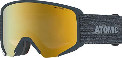 Atomic, All Mountain-Skibrille, Unisex, Für wolkiges bis sonniges Wetter, Large Fit, Kompatibel mit Sehbrille, Savor Big Stereo, Grau/Gelb Stereo, AN5105986