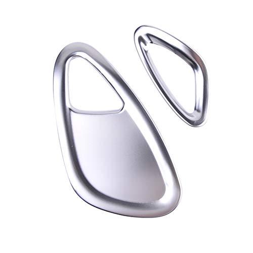 AniFM 2 STÜCKE Edelstahl Auto Dekoration klimaanlage Outlet Rahmen Patch Styling Für smart 453 fortwo forfour Innen Aufkleber Änderung zubehör,Silver