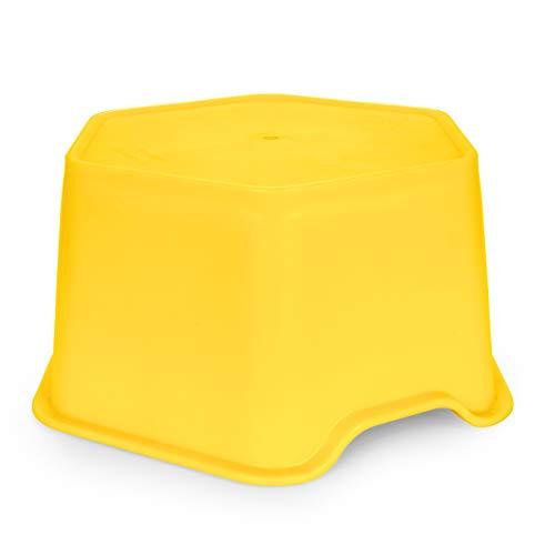 Camco 44421 Stabilisierungs-Stabilisator für Wohnwagenheber, gelb, bietet 17,8 cm Hebekraft und Stabilität für Wohnwagenheber – kompatibel mit 25,4 cm runden Wagenheber-Pads – mit 2,7 kg Rating