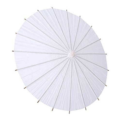 Alvinlite Paraguas Blanco para decoración de Pintura DIY, Paraguas de Papel Blanco, sombrilla para Boda, decoración de Fiesta Nupcial(Blanco2)