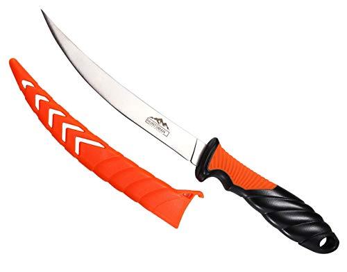 Huntsman Outdoors Fillet Knife – Sharp 6 inch Stainless Steel Blade for Filleting Fish, Boning Meat, and Deer Skinning