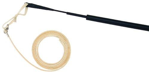Longierp. Hohlglas fwf .s14 - 370 - 450cm Schlag - sw, Schwarz, 370/450 cm Schlag