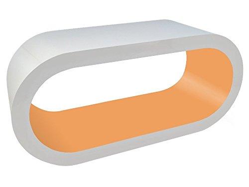 Zespoke Design Tableau Blanc et D'Ambre Cerceau Café TV/Meuble en Différentes Tailles