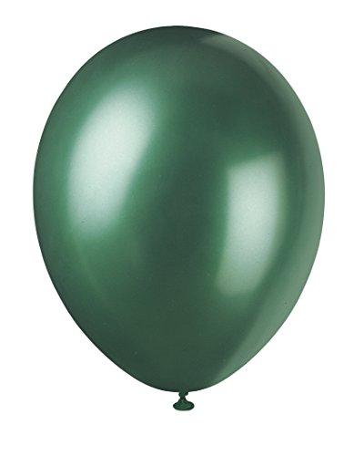 Unique Party - Globos Perlados de Látex - 30 cm - Color Verde - Paquete de 8 (80084)