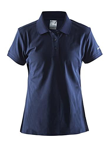 Craft Polo Pique Classic W L pour Femme L Bleu Marine