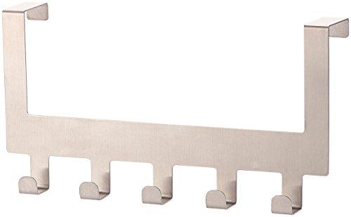 Carlo Milano Türhaken: Edelstahl-Türgarderobe mit 5 Haken, für Türen von 35-45 mm Dicke (Türhaken Rückseite)