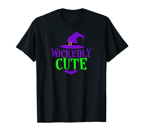 WICKEDLY - Disfraz divertido de bruja de Halloween para adolescentes y niñas Camiseta