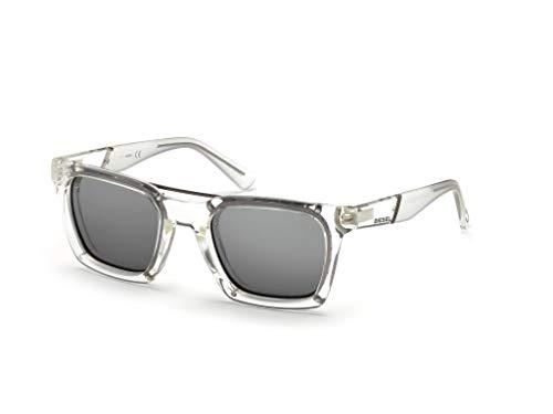 Diesel DL0250E Gafas de sol, Transparente (CristalloFumo Specchiato), 52.0 Unisex Adulto