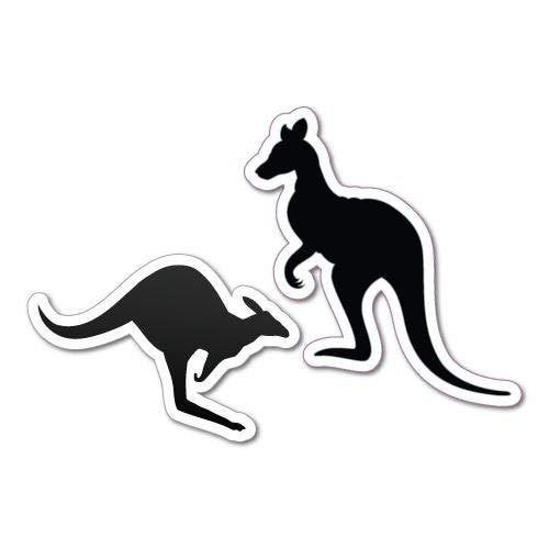 H421ld Calcomanía de dos figuras de canguro de Eureka con diseño de bogan y canguro australiano, Bogan Koala Vb Mate Cheers Kangaroo para ordenador portátil y coche
