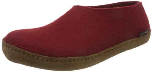 HAFLINGER Unisex Emils Pure Wool Felt Slippers, Rubin, 7.5-8 US Women