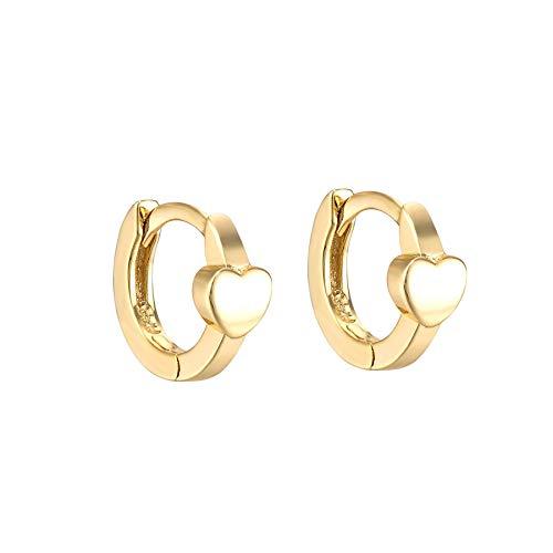 Mini Polished Heart Huggie Earrings