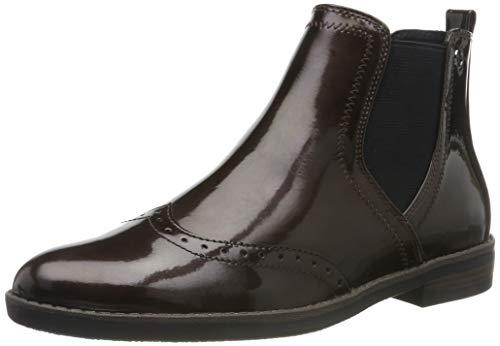 Tamaris Damen 1-1-25313-23 Chelsea Boots, Braun (Maroon Pat. 387), 37 EU