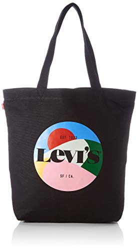 Levi's Women's Seasonal Graphic Tote, Borsa Superiore Donna, Nero Regolare, Taglia unica