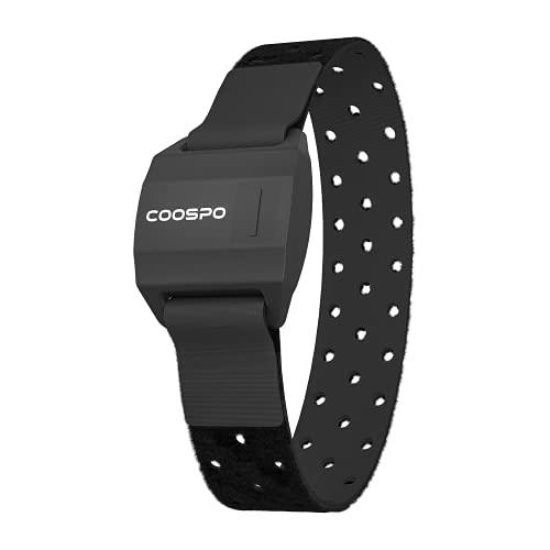 COOSPO Herzfrequenzmesser Armband Bluetooth ANT+ Pulsgurt Brustgurt Herzfrequenzmesser Optisch Herzfrequenz Armband IP67 Wasserdichter Wiederaufladbar Kompatibel mit CoospoRide App