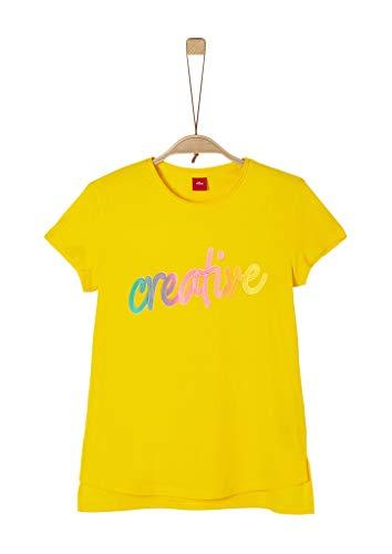 s.Oliver Junior Mädchen 401.10.004.12.130.2019651 T-Shirt, Gelb (1365 Yellow), L/REG