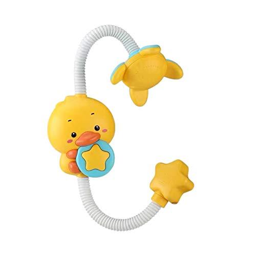 Yooyg Juguetes de baño de bebé juguete de la cabeza de ducha, juguete eléctrico de la bañera del espray del agua del pato, rociador ajustable de los juegos de agua, juguete de la piscina del baño