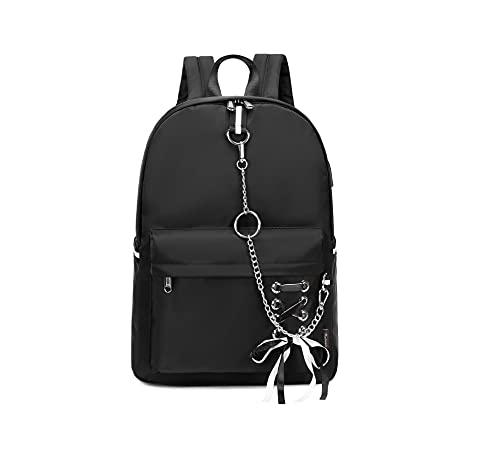 Wadirum Fashion Backpack Purse for Women Cute School Bag for Girl Black