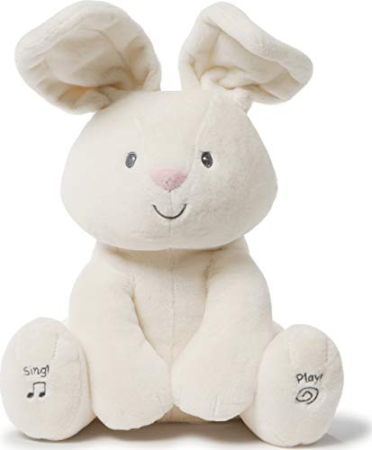 "Baby GUND Animated Flora The Bunny Stuffed Animal Plush, Cream, 12"""