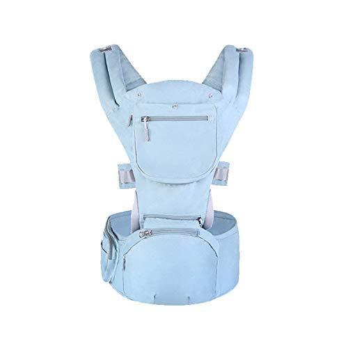 HWZZ La Bolsa Porta Taburete Lumbar Multifuncional para Bebés Tres En Uno Es Adecuada para Que Los Bebés Viajen, 0-36 Meses De Recién Nacidos,Azul,A