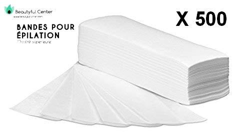 PUREWAX By Purenail- 500 bandes pour EPILATION lisses non tissées de qualité supérieure,
