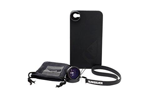 Quiksilver QUIKCOVIP4FISH - Carcasa con Objetivo de Ojo de pez para iPhone 4/4S, Color Negro