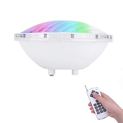 COOLWEST RGBW 36W Lampe de Piscine Lumière LED PAR56 12V DC/AC, contrôle par télécommande, Etanche IP68 Éclairage sous-marin
