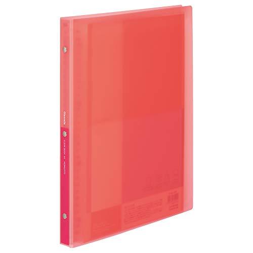 コクヨ ファイル クリヤーブック グラッセル 替紙式 A4 最大収容ポケット60枚 コーラルピンク ラ-GL720P