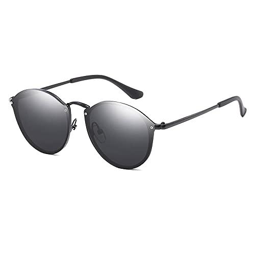 TTWLJJ Gafas de Sol Hombre Mujere protección UV400 Gafas conducción Gafas Gafas de Sol Aire Libre Deportes Golf Ciclismo Pesca Senderismo,Negro
