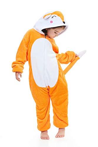 Kids Animal Onesie Cartoon Pajamas Christmas Halloween Cosplay Costume Fox 8 Years