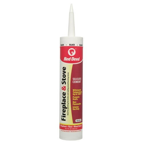 Cheap Red Devil 46612 0466 Repair Sealant, Black, 10.1 oz, Case of 12 Fireplace & Stove Caulk, 12-Pa...