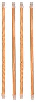 TRIXIE Perchoirs bois, pour oiseau, 35 cm/ ¸ 12 mm, 4 Pcs