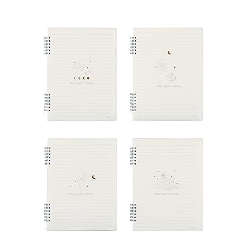 WQXD PP Frosted Spiral Notebook Lining Lindo Diario Diario Diario Registro Sketchbook para Trabajos Viajes Viajes Hombre Mujeres Escribir Almohadillas (tamaño : B5)