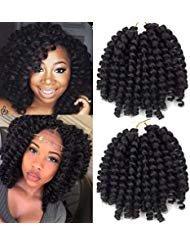 Crochet Braids Hair No Tangle 2X Ringlet Jumbo Wand Curl 3pcs/lot 8...