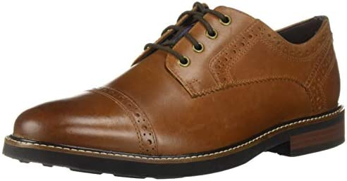Nunn Bush mens Overland Cap Toe Oxford Lace Up with KORE Technology Tan Crazy Horse 12 US product image