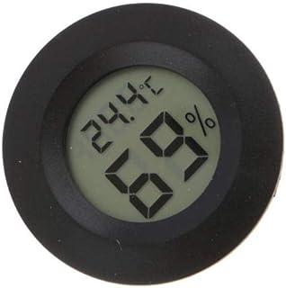 Eamoney Digital Indoor Thermometer & Hygrometer Mini Digital LCD Display Humidity Temperature Gauge Monitoring Temp Thermometer Black