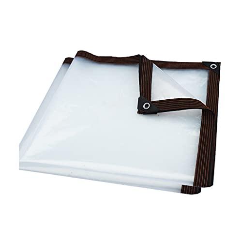 LUOWAN Lona de tela de plástico transparente para la lluvia, tela resistente a la lluvia, tela para balcón, ventana, cubierta de aislamiento para invernadero (color: 2 x 5 m)