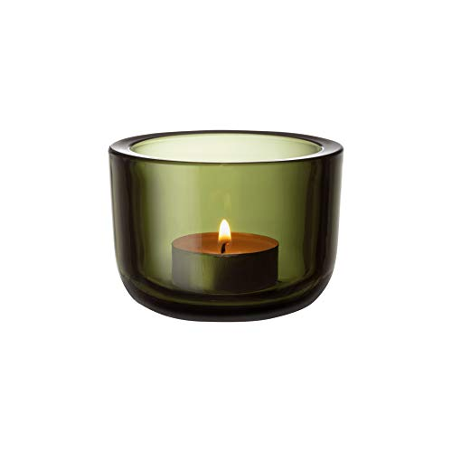 Iittala Valkea Windlicht, Glas, moosgrün, 60 mm